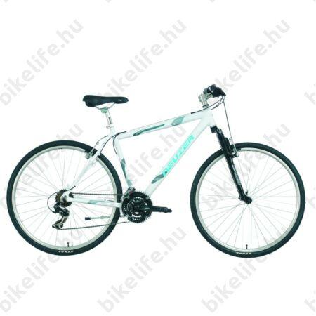 "Neuzer X-Series cross kerékpár, férfi, Shimano TX, duplafalú abroncs, fehér/kék, 43cm/17"""