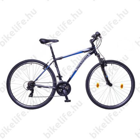 "Neuzer X-Series férfi cross kerékpár Shimano TY300, duplafalú abroncs, fekete-kék-szürke 48cm/19"""