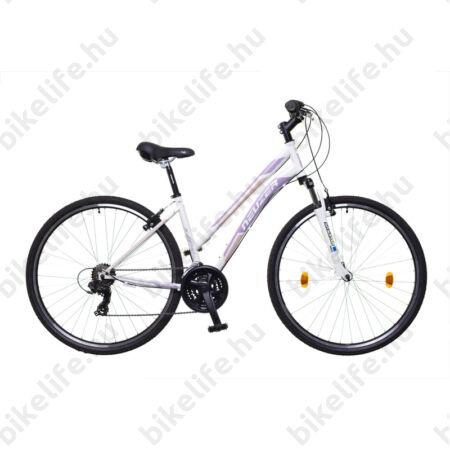 """Neuzer X-Series női cross kerékpár Shimano TY300, duplafalú abroncs, fehér/mályva/rózsa, 44cm/17"""""""