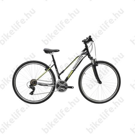 "Neuzer X-Series női cross kerékpár Shimano TY300, duplafalú abroncs, fekete/zöld-fehér 44cm/17"""