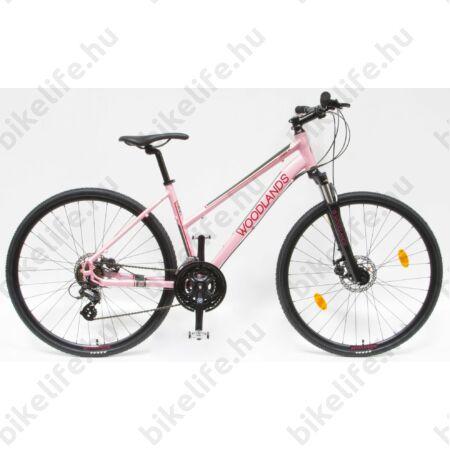 """Csepel Woodlands 1.1 cross kerékpár, női, 21sebességes, duplafalú abroncs, rózsaszín, 19"""""""