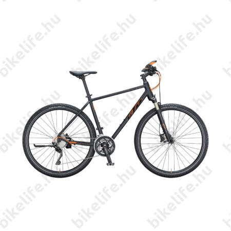 KTM Life 1964 Cross 2018 férfi cross kerékpár 30 fokozatú XT váltó,hidr.tárcsafék fekete 51cm