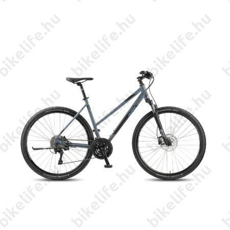 KTM Life Cross 2018 női cross kerékpár, 30 fokozatú LX váltó,hidr.tárcsafék, mattszürke-feke, 46cm