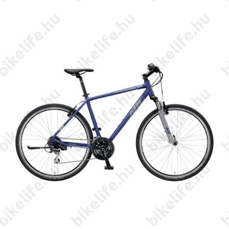 KTM Life One férfi cross kerékpár 24 fokozatú Shimano Acera váltó, V-fék, sötétkék (szürke) 51cm