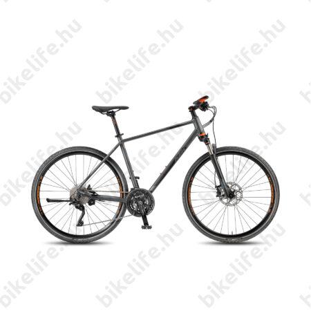 KTM Legarda Race 2017 férfi cross kerékpár, 30seb. DeoreXT, tárcsafék, levegős teló, matt-titán 51cm