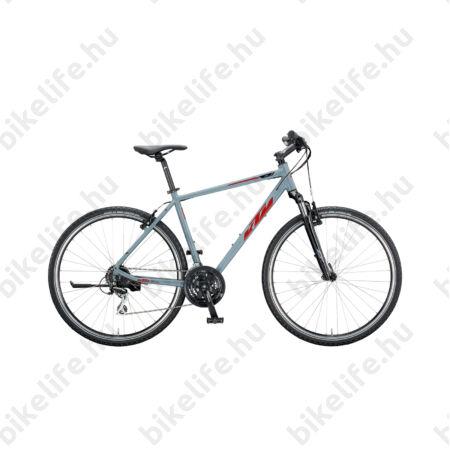 KTM Life One férfi cross kerékpár 24seb. Acera váltó, V-fék, szürke (piros/fekete), 46cm