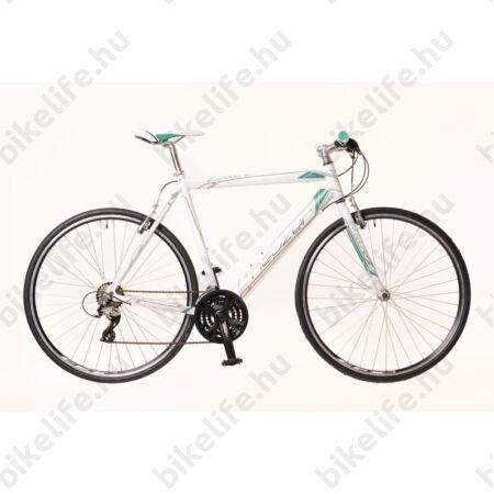 Neuzer Courier fitnesz kerékpár 21 fokozatú Shimano Acera váltórendszer, fehér/türkiz 52cm