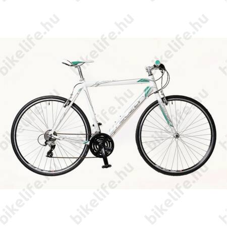 Neuzer Courier fitnesz kerékpár 21 fokozatú Shimano Acera váltórendszer, fehér/türkiz 54cm