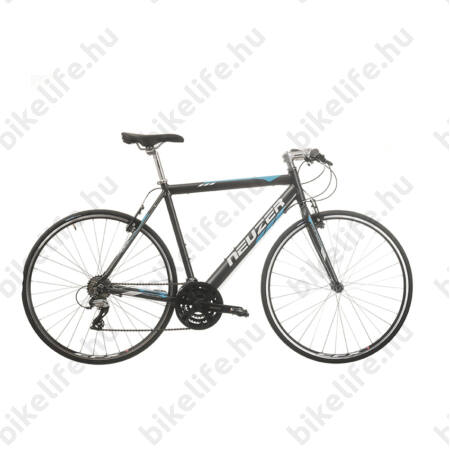 Neuzer Courier fitness kerékpár 21 fokozatú Shimano Acera váltórendszer, antracit/kék 58cm