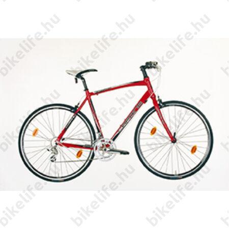 Caprine Speedmax fitness kerékpár 16 fokozatú Shimano A2300 váltórendszer, piros, 54cm