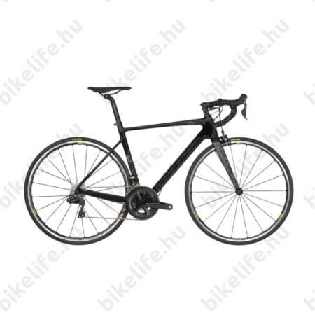 Kellys URC 90 Black/Red országúti kerékpár 22 fokozatú Shimano Ultegra Di2 elektromos váltó, karbon váz+villa, M