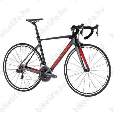 Kellys URC 90 Black/Red országúti kerékpár 22 fokozatú Shimano Ultegra Di2 elektromos váltó, karbon váz+villa, L