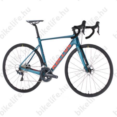Kellys URC 70 Blue országúti kerékpár 22 fokozatú Shimano Ultegra szett, hidr. tárcsa, karbon váz+villa, M