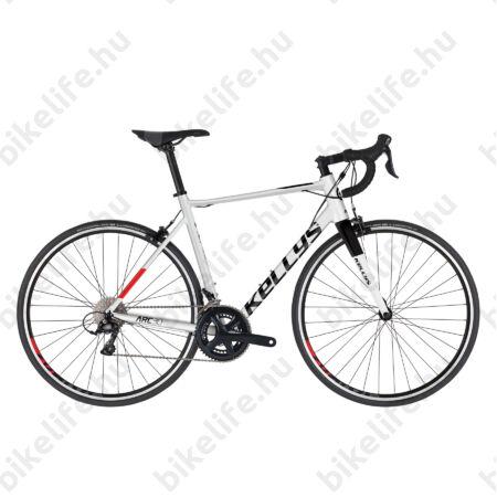 Kellys ARC 30 Black/White országúti kerékpár 18 fokozatú Sora váltó, alu váz+karbon villa L
