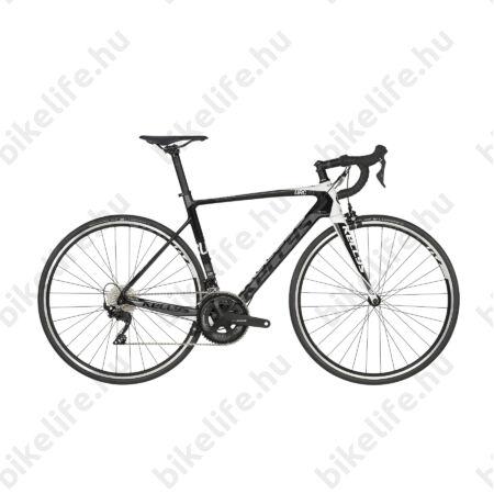 Kellys URC 30 Black/White országúti kerékpár 22 fokozatú 105 váltó, karbon váz+villa, M (52cm)