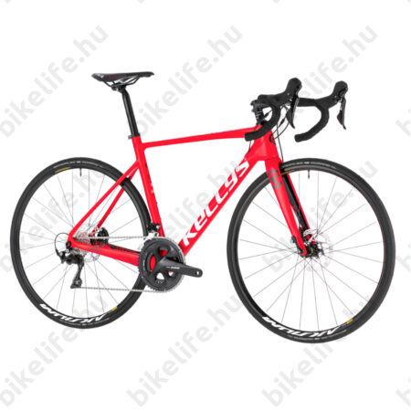 Kellys URC 50 Red országúti kerékpár 22 fokozatú Shimano 105 szett, hidr. tárcsa, karbon váz+villa, M