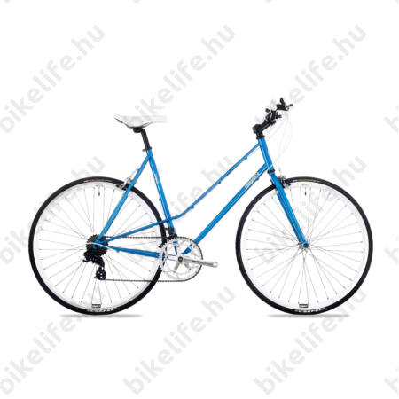 Csepel Torpedo 3* fitness kerékpár 14 fokozatú Shimano váltó, női, kék, 51cm