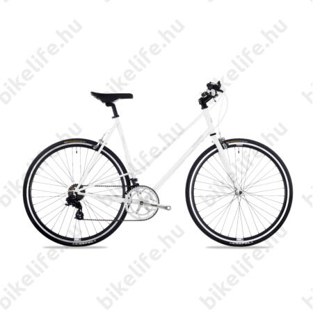 Csepel Torpedo 3* fitness kerékpár 14 fokozatú Shimano váltó, női, fehér, 51cm