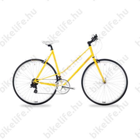 Csepel Torpedo 3* fitness kerékpár 14 fokozatú Shimano váltó, női, sárga, 51cm
