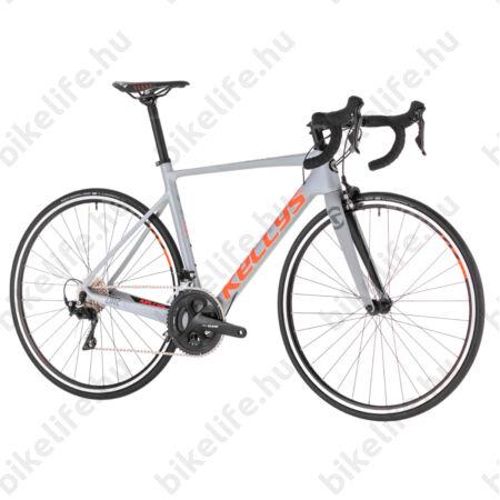 Kellys URC 30 Grey/Orange országúti kerékpár 22 fokozatú Shimano 105 váltó, karbon váz+villa, M