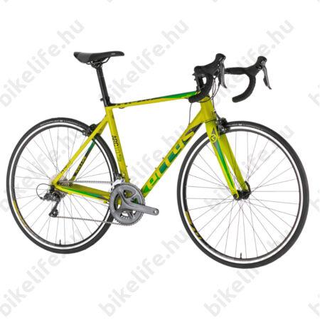Kellys ARC 10 Yellow országúti kerékpár 16 fokozatú Claris váltó, alu váz+karbon villa M