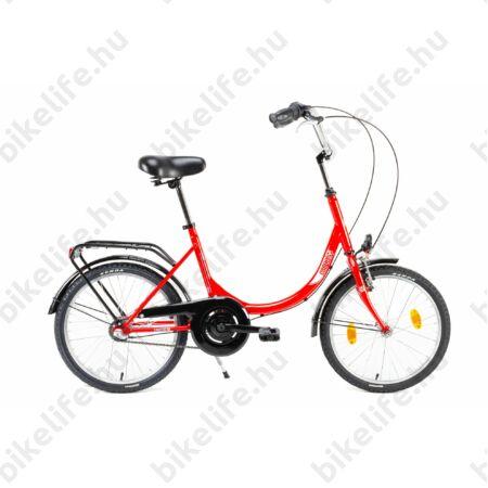 """Csepel Camping 20""""-os városi kerékpár hajlított merev vázzal, 3 fokozatú Nexus agyváltó, piros"""