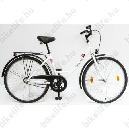 """Csepel Blackwood 26""""-os városi kerékpár, kontrás, fehér (korábban Ambition)"""