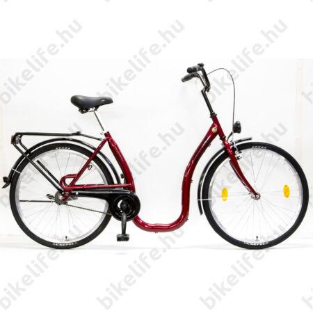 """Csepel Budapest C 26""""-os városi kerékpár, Nexus 3 sebességes agyváltó, piros, extra alacsony"""