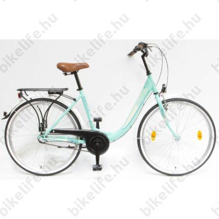 """Csepel Budapest B 26""""-os városi kerékpár, Nexus 3 sebességes agyváltó, türkiz"""