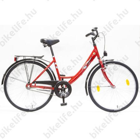 """Csepel Blackwood 26""""-os városi kerékpár, kontrás, piros (korábban Ambition)"""