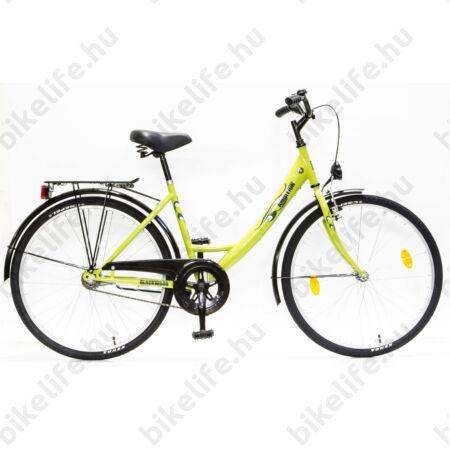 """Csepel Blackwood 26""""-os városi kerékpár, kontrás, zöld (korábban Ambition)"""