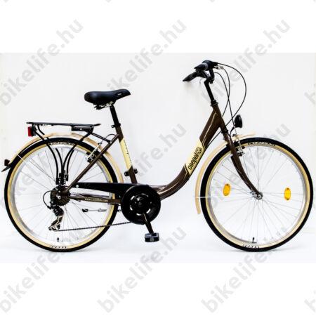 """Csepel Budapest B 26""""-os városi kerékpár 7sebességes, barna"""