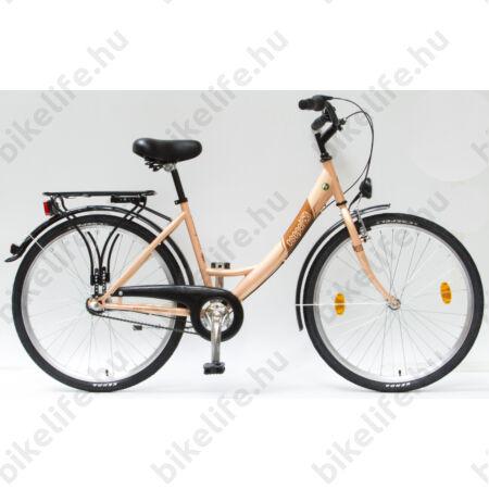 """Csepel Budapest 26""""-os városi kerékpár, Nexus 3 sebességes agyváltó, púder színű"""