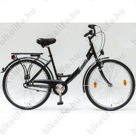 """Csepel Budapest B 26""""-os városi kerékpár, Nexus 3 sebességes agyváltó, fekete"""