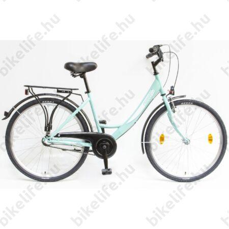 """Csepel Budapest 26""""-os városi kerékpár, Nexus 3 sebességes agyváltó, türkiz"""