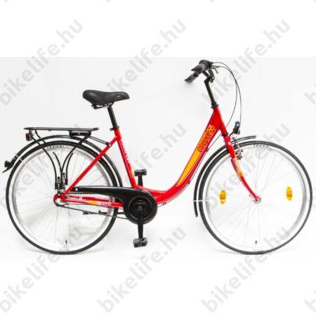 """Csepel Budapest B 26""""-os városi kerékpár, Nexus 3 sebességes agyváltó, piros"""
