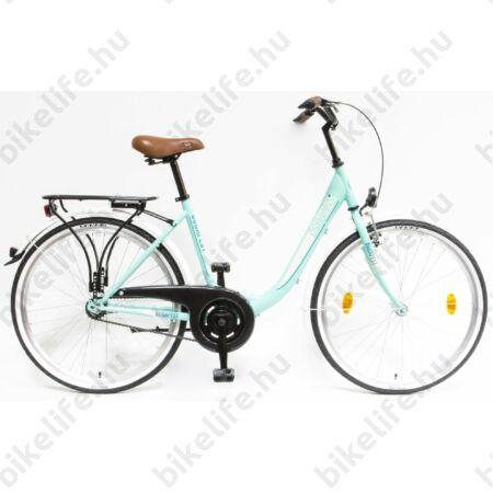 """Csepel Budapest B 26""""-os városi kerékpár 7sebességes, türkiz"""