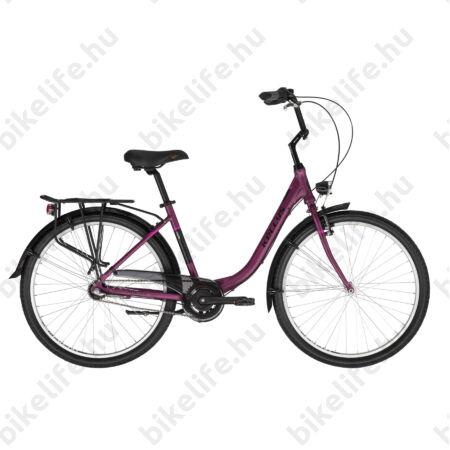 """Kellys Avery 10 Purple 26""""-os városi kerékpár Shimano Nexus3 agyváltó, 43cm-es méret"""