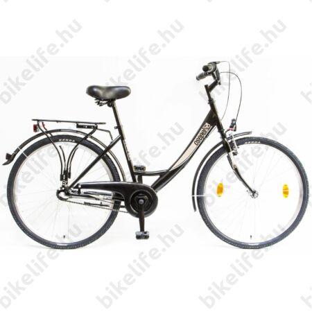 """Csepel Budapest A 26""""-os városi kerékpár, Nexus 3 sebességes agyváltó, fekete"""