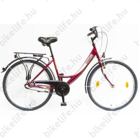 """Csepel Budapest A 26""""-os városi kerékpár, Nexus 3 sebességes agyváltó, bordó"""
