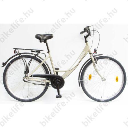 """Csepel Budapest A 26""""-os városi kerékpár, Nexus 3 sebességes agyváltó, drapp"""