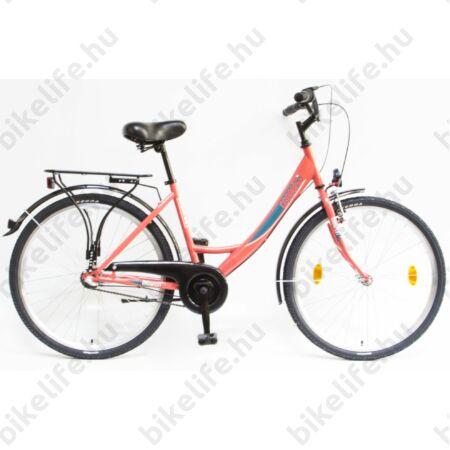 """Csepel Budapest A 26""""-os városi kerékpár, Nexus 3 sebességes agyváltó, korall"""