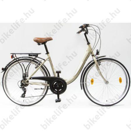 """Csepel Budapest B 26""""-os városi kerékpár 7sebességes, drapp"""