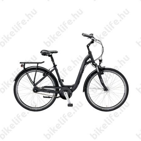 """KTM City Line 7 26""""-os városi kerékpár W-váz 7 fokozatú Nexus agyváltó és agydinamó, matt fekete 43cm"""