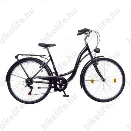 """Neuzer Venezia 26""""-os városi kerékpár 7 sebességes, fekete/kék-szürke"""