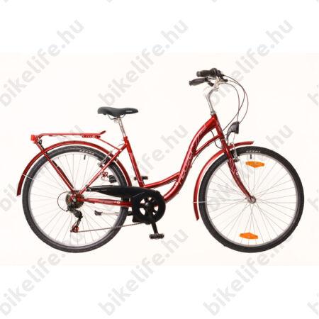 """Neuzer Venezia 26""""-os városi kerékpár 7 sebességes, bordó, bordó sárvédőkkel"""
