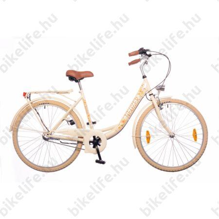 """Neuzer Balaton 26""""-os Nexus 3 agyváltós városi kerékpár krém/virágos"""