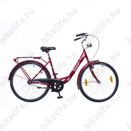 """Neuzer Balaton 26""""-os városi kerékpár kontrás, bordó/barna-fehér"""