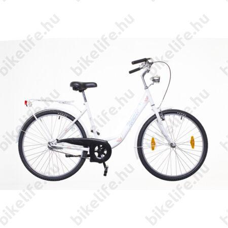 """Neuzer Balaton 26""""-os városi kerékpár kontrás, fehér/kék-barna"""