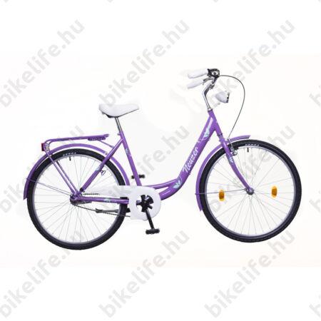 Neuzer Balaton Plus limitált kontrás 26-os city kerékpár lila/zöld-fehér